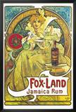 Fox Land Jamaica Rum Posters by Alphonse Mucha