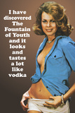 I Discovered Fountain Of Youth It Tastes Like Vodka Funny Plastic Sign Targhe in plastica