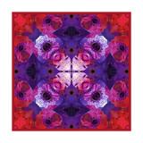 Purple Diamond Mandala Posters por Alaya Gadeh