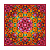 Orange Red Flower Mandala Posters por Alaya Gadeh