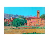 Tuscan Farm Village Photographic Print by Allan P. Friedlander