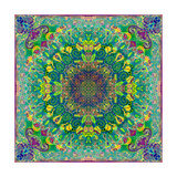 Lemon Flower Mandala Photographic Print by Alaya Gadeh