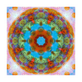 Orange Fruit Blue Water Mandala Photographic Print by Alaya Gadeh