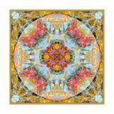 Mandala Coleur Royale De La Mer Gold Photographic Print by Alaya Gadeh