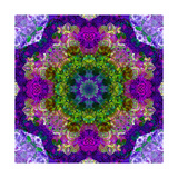 Purple Flower Mandala Sandra Prints by Alaya Gadeh