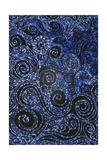 Swirly Blue Mosaic Ornament Photographic Print by Alaya Gadeh