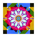 Asymetric Mandala Geometry Photographic Print by Alaya Gadeh