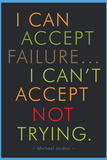 I Can Accept Failure Michael Jordan Motivational Poster Prints