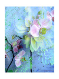 Blue Dahlia With Pink Orchids Photographic Print by Alaya Gadeh