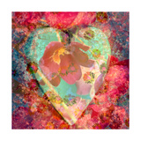 Floral Heart II Poster by Alaya Gadeh