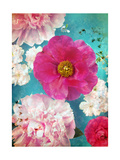 Pink Poeny Composition Photographic Print by Alaya Gadeh