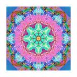 Green Blossom Pink Flower Mandala Pôsteres por Alaya Gadeh