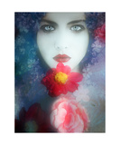 The Red Flower Photographic Print by Alaya Gadeh and Elizabeth May