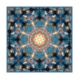 Flower Mandala Blue Universe Photographic Print by Alaya Gadeh