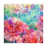 Impressionistic Flower Meadow Square Fotodruck von Alaya Gadeh