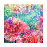 Impressionistic Flower Meadow Square Photographic Print by Alaya Gadeh