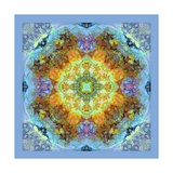 Mandala Royal Baby Blue I Photographic Print by Alaya Gadeh