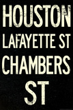 New York City Houston Chambers Vintage RetroMetro Subway Plastic Sign Plastic Sign