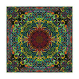 Drawpaint Mandala Photographic Print by Alaya Gadeh