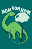 Nom Nom Nom Snorg Tees Plastic Sign Plastic Sign by  Snorg