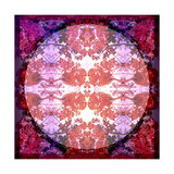 Purple and Red Baroque Ornament Photographic Print by Alaya Gadeh