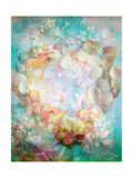 Romantic Seashell Heart With Blossoms Photographic Print by Alaya Gadeh