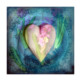Blue Floral Heart Photographic Print by Alaya Gadeh