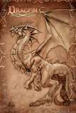 Dragon Parchment by Tom Wood Poster Photo