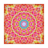 Orange Dahia Mandala Photographic Print by Alaya Gadeh