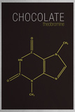 Chocolate (Theobromine) Molecule Poster Prints