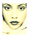 Golden Angels Face Photographic Print by Alaya Gadeh