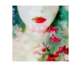 Red Like Love And Green Like Hope Photographic Print by Alaya Gadeh and Elizabeth May
