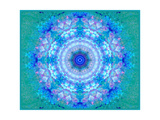 Blue Water Mandala Ornament Photographic Print by Alaya Gadeh