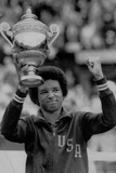 Arthur Ashe Defeats Jimmy Connors Tennis Trophy Archival Photo Sports Poster Photo