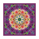 Purple Blossom Mandala Photographic Print by Alaya Gadeh