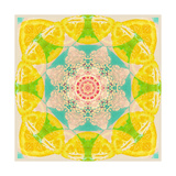 Lemon Blossom Mandala Photographic Print by Alaya Gadeh