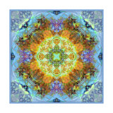 Flower Mandala Royal Baby Blue Photographic Print by Alaya Gadeh