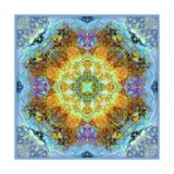 Flower Mandala Royal Baby Blue Photographic Print by Alaya Gadeh