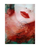 Lips As Red Like A Rose Photographic Print by Alaya Gadeh and Elizabeth May
