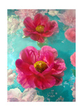 Pink Poeny Impression Photographic Print by Alaya Gadeh