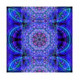 Purple Energy Mandala Photographic Print by Alaya Gadeh