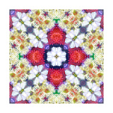 Red Cross Mandala ORnament Posters por Alaya Gadeh
