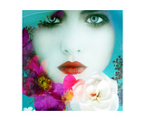 Flower Water Photographic Print by Alaya Gadeh and Elizabeth May