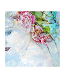 Portrait With Floral Ornaments And Roses Photographic Print by Alaya Gadeh and Elizabeth May