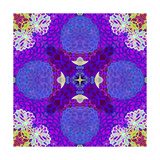 Purple Flower Mandala Drawing Photographic Print by Alaya Gadeh
