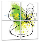 Citron Petals 4-Piece Set Prints by Jan Weiss