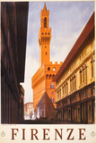 Firenze Italy Travel Vintage Ad Poster Posters