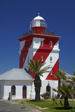 Mouille Point Lighthouse (1824), Cape Town, South Africa Fotografisk tryk af David Wall