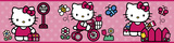 Hello Kitty - The World of Hello Kitty Peel & Stick Border Wall Decal Wall Decal