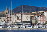 Port View of St-Florent, Le Nebbio, Corsica, France Photographic Print by Walter Bibikow